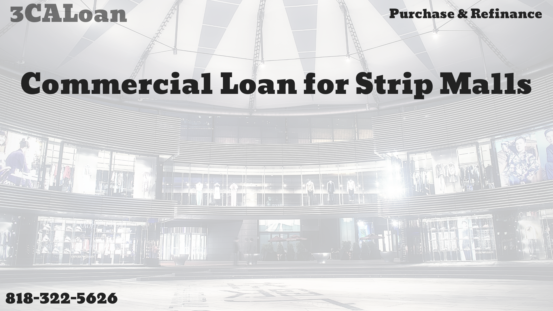 Commercial loan for Strip Malls